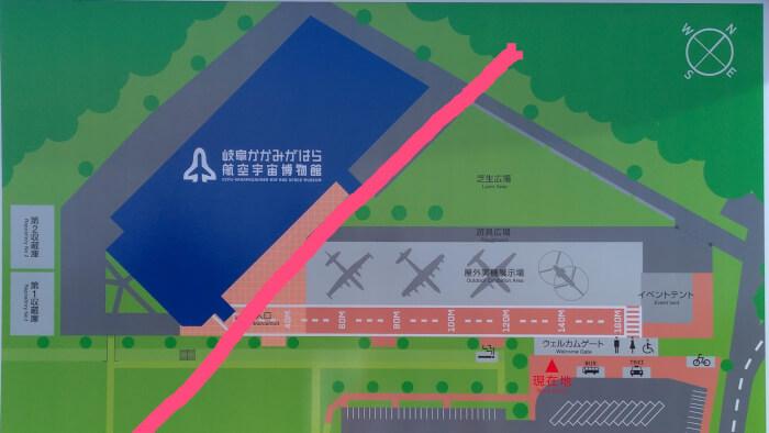航空宇宙博物館の地図