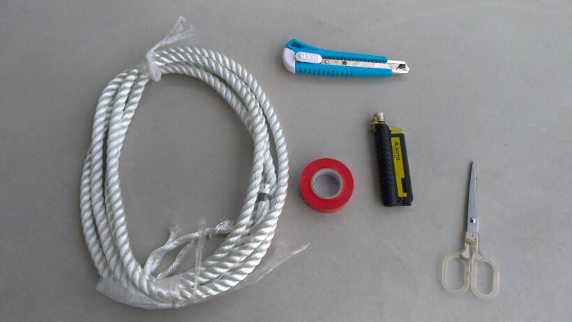 ロープ結索用意するもの
