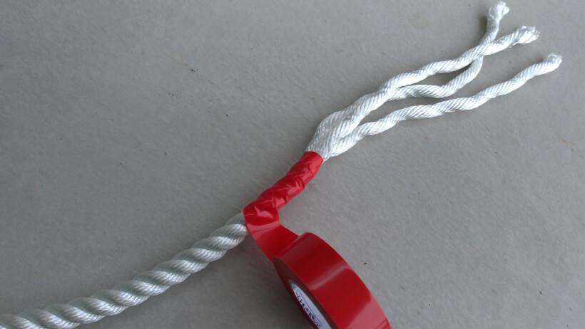 ロープにビニールテープ