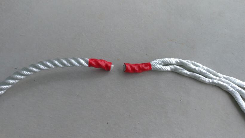 ロープを切る